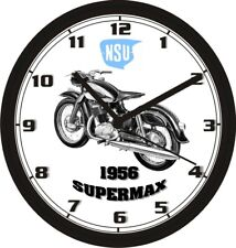 1956 NSU SUPERMAX MOTORCYCLE WALL CLOCK-FREE USA SHIP