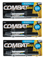 3 Combat Max ANT KILLING GEL Killer Bait Syringe 0.95 oz Kills Nest Colony 97306