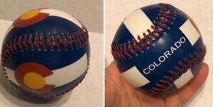 💥New Souvenir Baseball Colorado Cubs? Rockies? C Red Yellow