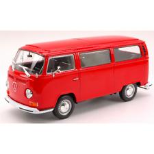 VW T2 BUS 1972 RED 1:24 Welly Auto Stradali Die Cast Modellino