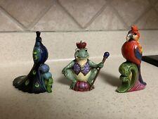 Lot of 3 Jim Shore Heartwood Creek Mini Figurines~Peacock, Parrot, Frog Prince