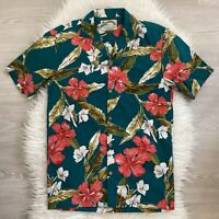 Vintage Paradise Found Hawaiian Shirt Size S Short Sleeve Hawaii Single Stitch