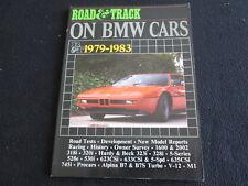 1979-1983 BMW R&T Article Book M1 E26 Pro-Car Group 4 Catalog 323i 533i Brochure