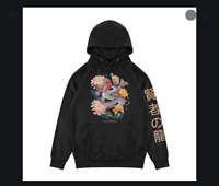 La Familia Mens Hoodie Sweat Shirt WISE SERPENT Dragon BLACK Streetwear S-XL $65