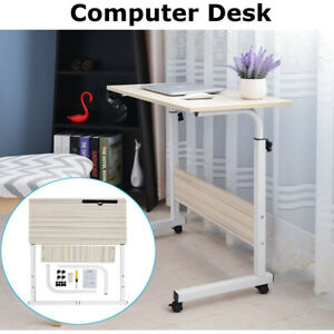 Laptop Desk Computer Mobile Stand Height Adjustable Study Work Table Home Office