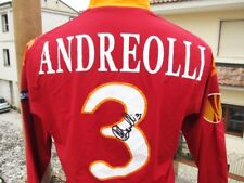 MAGLIA SHIRT CAMISETA CALCIO ROMA ANDREOLLI MATCH WORN INDOSSATA SIGNED ITALIA