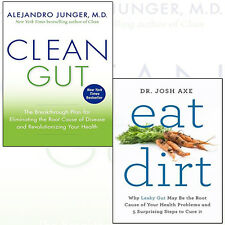 Clean Gut and Eat Dirt 2 Books Collection Set By Alejandro Junger & Dr Josh Axe