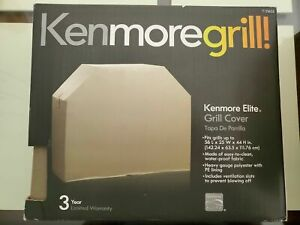 """NEW Kenmore Elite 56"""" x 25"""" x 44"""" Grill Cover 71 23655 Vent Slots Waterproof"""