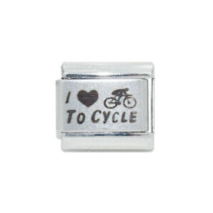 I love to cycle Italian Charm - fits 9mm Classic Italian charm bracelets