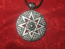 SILVER PEWTER 30MM WICCAN 8 POINTED ISHTAR GODDESS STAR PENDANT NECKLACE
