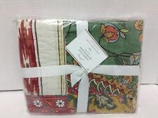 Pottery Barn Natasha Floral Patchwork Bed Pillow Cover King Quilted Sham NEW