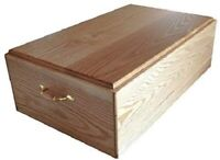 Wooden Pet Casket Funeral and Burial Coffin for Dogs & Cats Wood Dog Burial Box