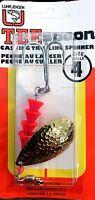 Vintage Luhr-Jensen Hammered Brass TeeSpoon Size 4 Spinner Fishing Lure