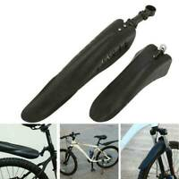 2 PCS EASY FIX BICYCLE MTB MUDGUARDS MOUTAIN BIKE FRONT REAR MUD GUARD SET Gifts