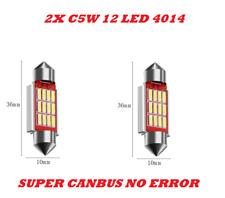LAMPADINE SILURO C5W 36mm 12 LED 4014 NON DA ERRORE LUCI AUTO TARGA CANBUS