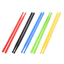 X2 5A Nylon Lime Green Plastic Stick Drum Sticks Fitness Exercise Drumsticks Pro