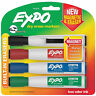 EXPO Magnetic Dry Erase Markers Chisel Tip Low Odor 4 Colors Built In Erasers