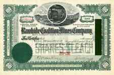 1910 Rawhide Coalition Mines Stock Certificate