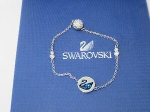 "GENUINE Swan Signed SWAROVSKI ""Remix"" Blue Swan Bracelet - Medium -  #5375252"