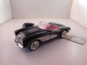 Franklin Mint Black,1958 Chevy Corvette 1:24 scale diecast B11 TG 76