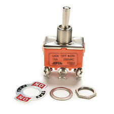 NEW Auto Car Boat 6 Pin 15A Car Tip Toggle DPDT ON-OFF-ON Switch 12v 220 -250 PL