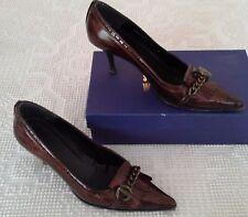 Stuart Weitzman Bronze Kiltie Patent Leather Pumps Heels 9 M 9M