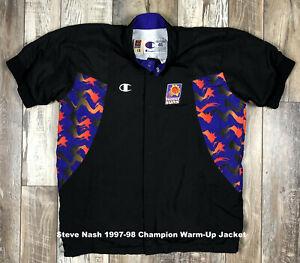 Steve Nash #13 1997-98 Phoenix Suns Game Used Champion Warm Up Jacket Black 46