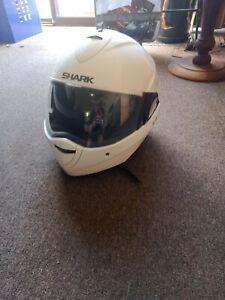 Shark Evoline 2 White motorcycle helmet Large
