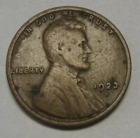 1923-S Lincoln Wheat Cent in Average Circulated Condition    DUTCH AUCTION