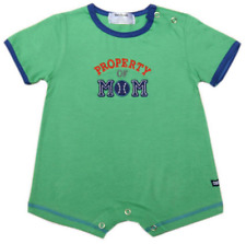 "Oshkosh B'gosh ""Property of Mom"" Romper (Green) Infant/Baby Boy Clothes, 3 mos"