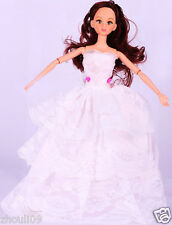 Children's toys Princess Party Dress/Evening Clothes/Gown For Barbie Doll  1042