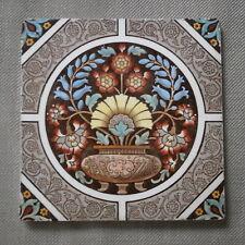 ANTIQUE ARTS & CRAFTS GLAZED CERAMIC TILE