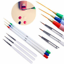 6PCS/Set Nail Art Tiny Thin Fine Liner Acrylic Decoration Pen Brush Painting