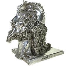 "Orig. ERNST FUCHS Bronzeskulptur ""KOPF DAVID"" (versilbert), WVZ. Nr. 3c"