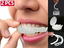 2X Smile Cosmetic Teeth Fake Upper Tooth Cover Dental False Natural Snap On Flex