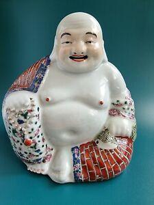 Chinese  Maosheng Zhu  BUDDHA Figurine BUDAI Porcelain Rare!!!