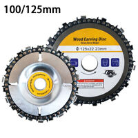 Angle Grinder Chain Disc 5'' 125mm/  4'' 100mm Saw Blade Wood Carving Cutting