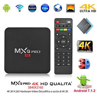 MXQ PRO Android 7.1 S905W Quad Core 64-Bit 1 + 8G Smart-TV-Box 4Kx2K WiFi HDD EU