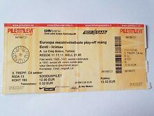 Used Sammler Ticket Estland Estonia vs Irland Ireland UEFA EURO 2012