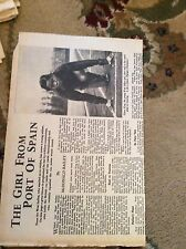 75-4 ephemera 1951 folded article eileen king port of spain athlete
