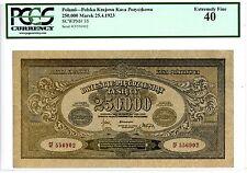 Poland ... P-35 ... 250,000 Marek ... 1923 ... *XF* ... PCGS 40