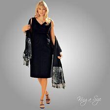 Festliche Etuikleid / Kleid / Freizeitkleid - Stretch Gr.56 schwarz NEU