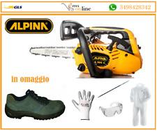 Motosega a scoppio leggera da potatura Alpina A 305 C barra Carving + scarpe