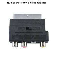 RGB euroconector adaptador audio 3 RCA S-Video AV / TV grabadore DVD de vídeo