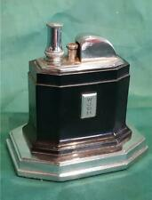 Vintage Art Deco Ronson Touch Tip Table Lighter in Black & Chrome Working Order
