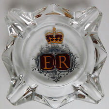 Queen Elizabeth II glass ashtray Royal Silver Jubilee 1977 vintage 1970s VGC