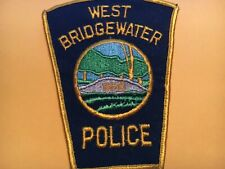 Old West Bridgewater Mass. Police Patch Cheese Cloth