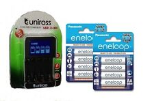 UNiROSS SMART FAST LCD CHARGER 8 x AA  ENELOOP  RECHARGEABLE BATTERIES