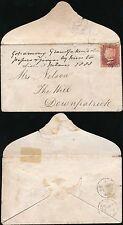 IRELAND 1861 CARRICKMACROSS to DOWNPATRICK...PENNY RED