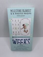 Brand New Milestone Blanket & 6 photo Props, Perfect Backdrop For Photos
